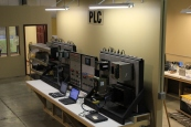 One of our techs built this sophisticated PLC testing center in our shop -