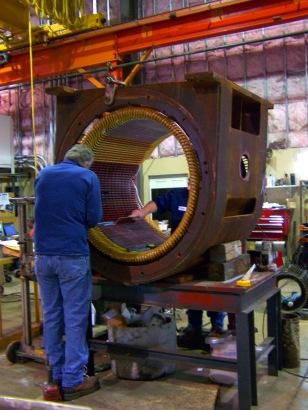 Check out this BIG motor we received for repair -